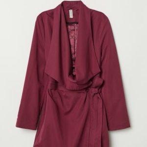 H&M Coat with Draped Lapels